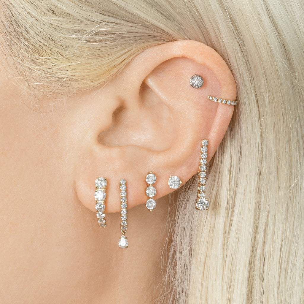 DIAMOND PAVÉ STUD PIERCING EARRING #3