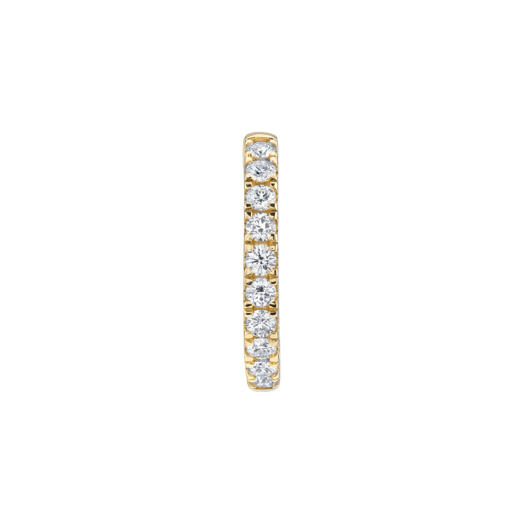 DIAMOND LARGE ULTIMATE INSIDE OUT HOOP EARRING