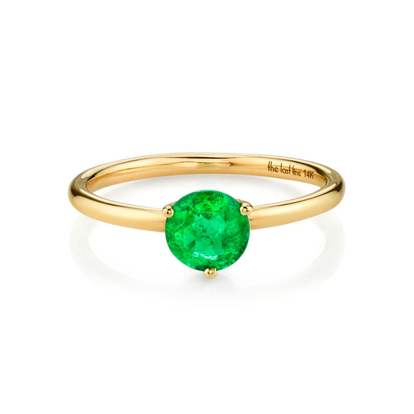 EMERALD LARGE SOLITAIRE RING