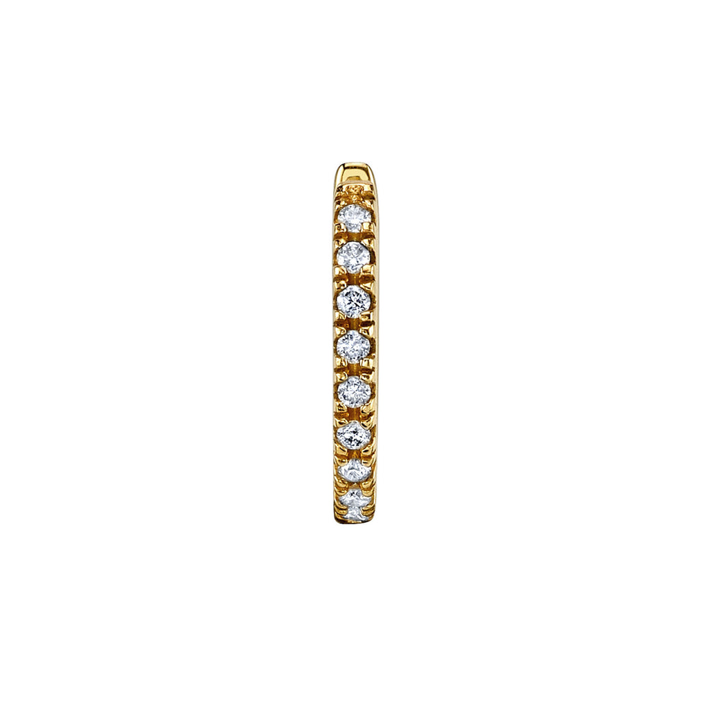 DIAMOND LARGE HUGGIE EARRING