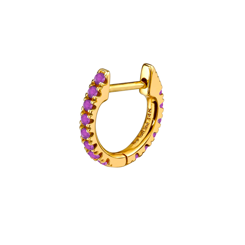 AMETHYST MEDIUM HUGGIE EARRING