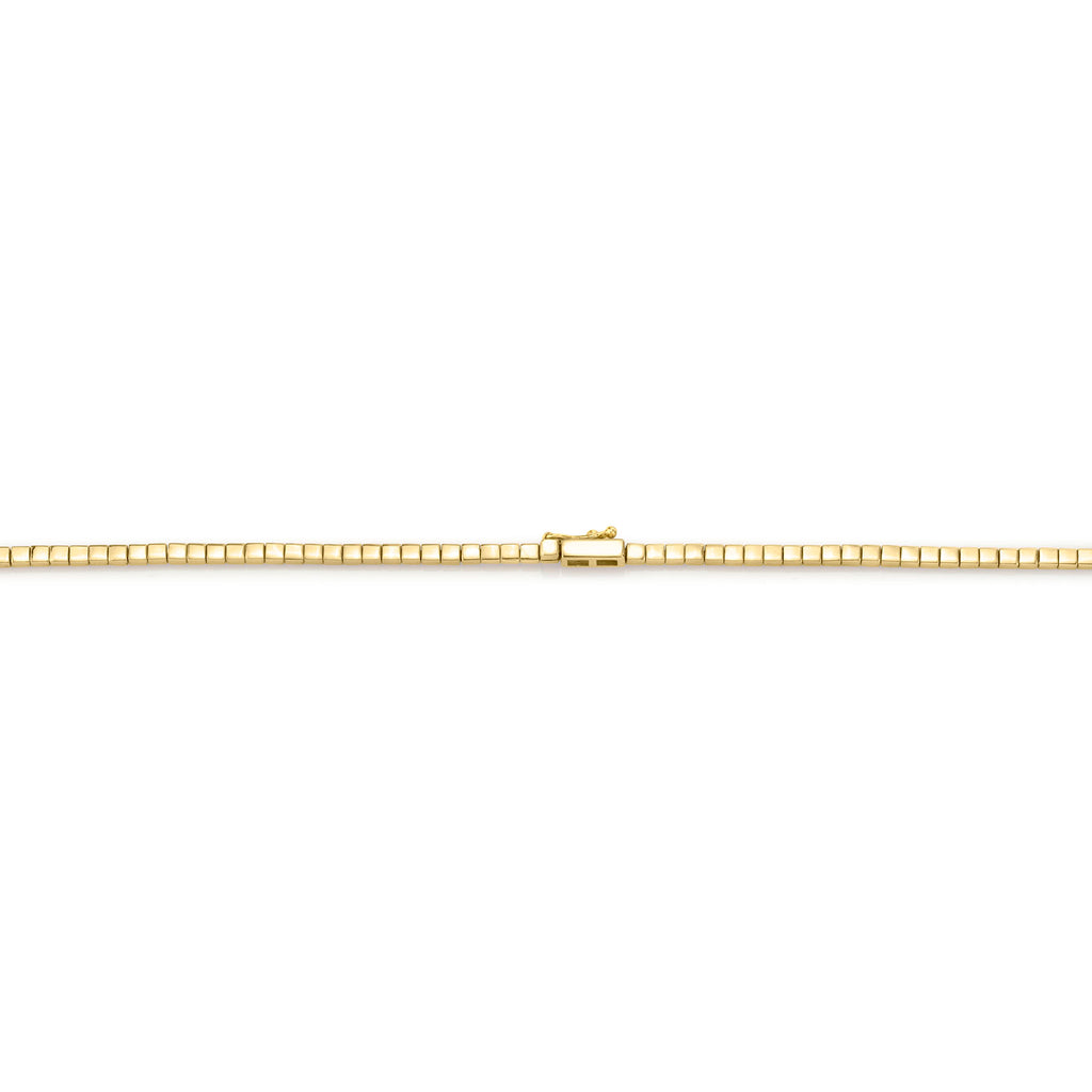 DIAMOND AND GOLD ID NECKLACE
