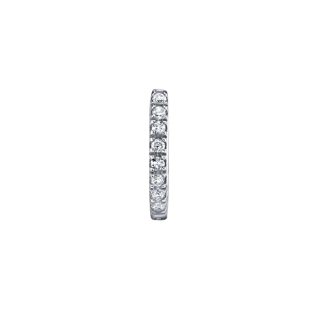 DIAMOND MEDIUM HUGGIE EARRING
