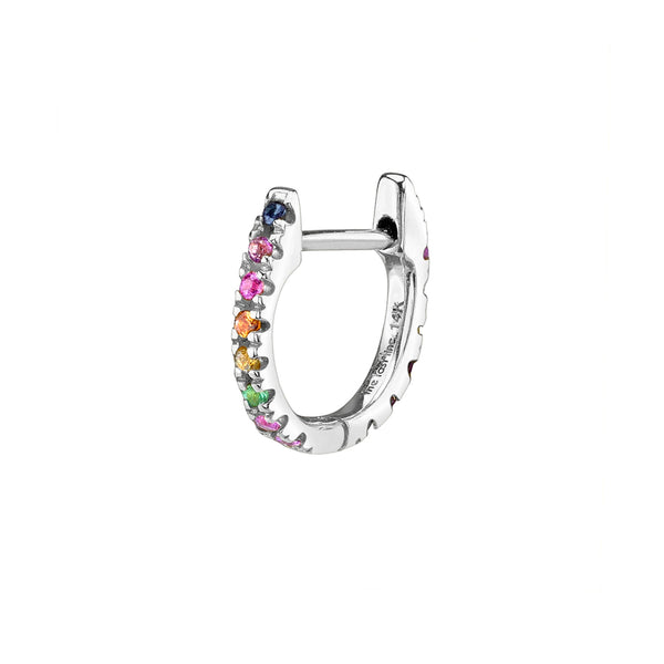 RAINBOW MEDIUM HUGGIE EARRING