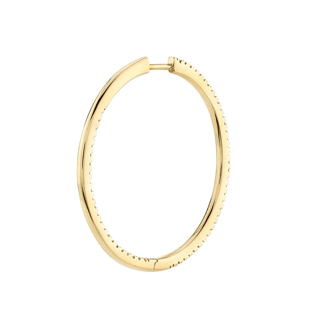 DIAMOND XL INSIDE OUT HOOP EARRING