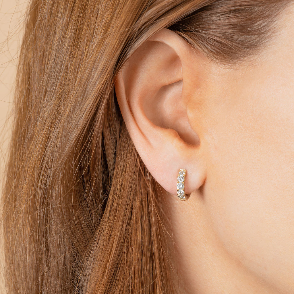 DIAMOND SMALL ULTIMATE HOOP EARRING