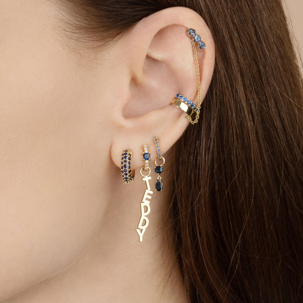 PERFECT GOLD CONNECTED EAR CUFF AND CHAIN