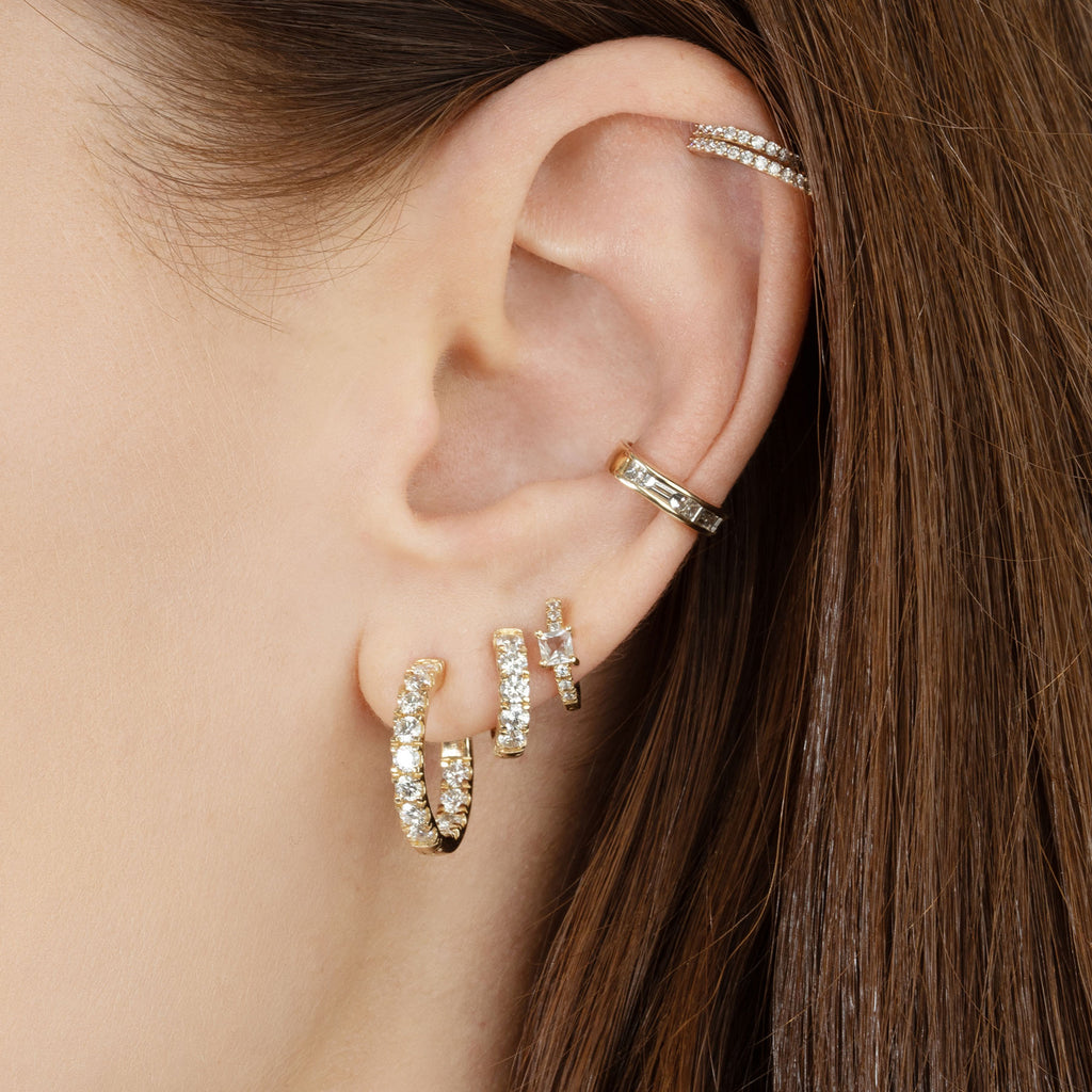 DIAMOND PRINCESS BAGUETTE EAR CUFF