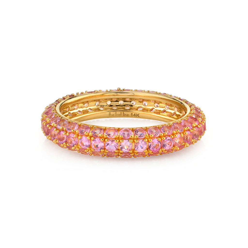 PINK SAPPHIRE WIDE BAND