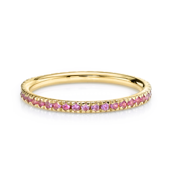 PERFECT PINK SAPPHIRE ETERNITY BAND