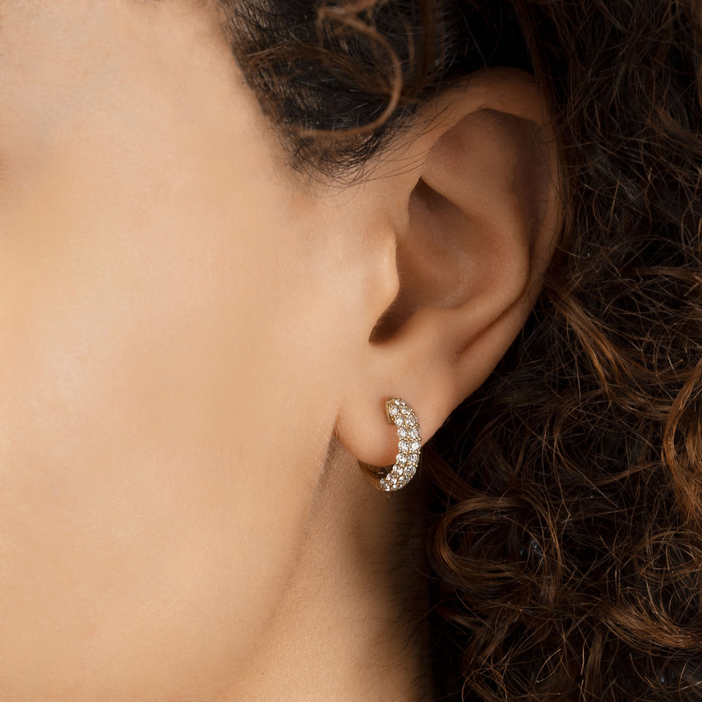 DIAMOND PAVÉ WIDE HOOP PIERCING #4 EARRING