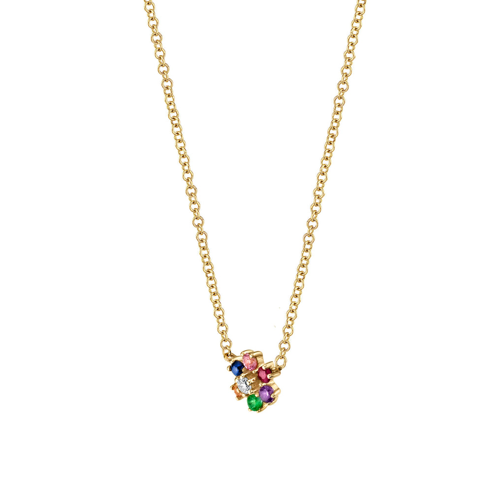 RAINBOW MINI FLOWER NECKLACE