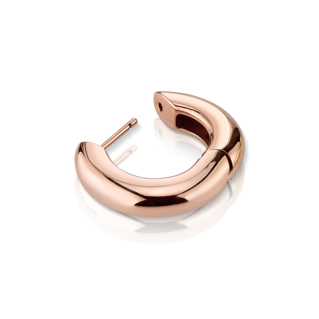 ROSE GOLD WIDE HOOP #3 EARRING