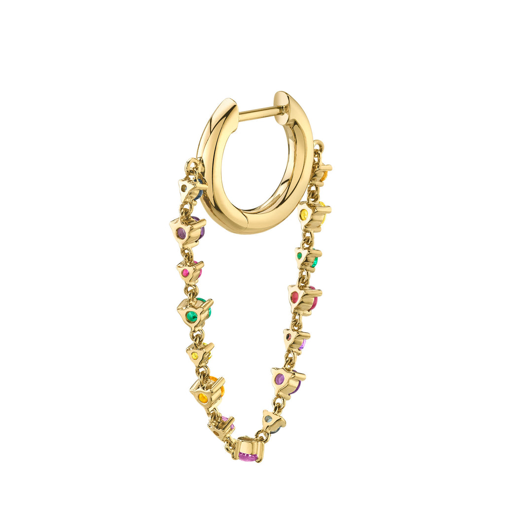 RAINBOW TENNIS CHAIN SLIM HOOP
