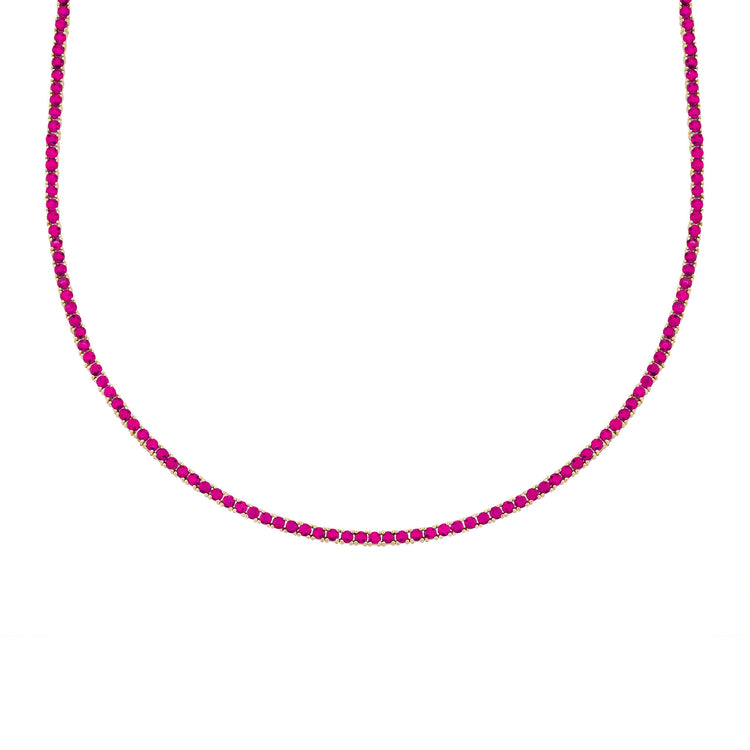 RUBY PERFECT COLLAR TENNIS NECKLACE