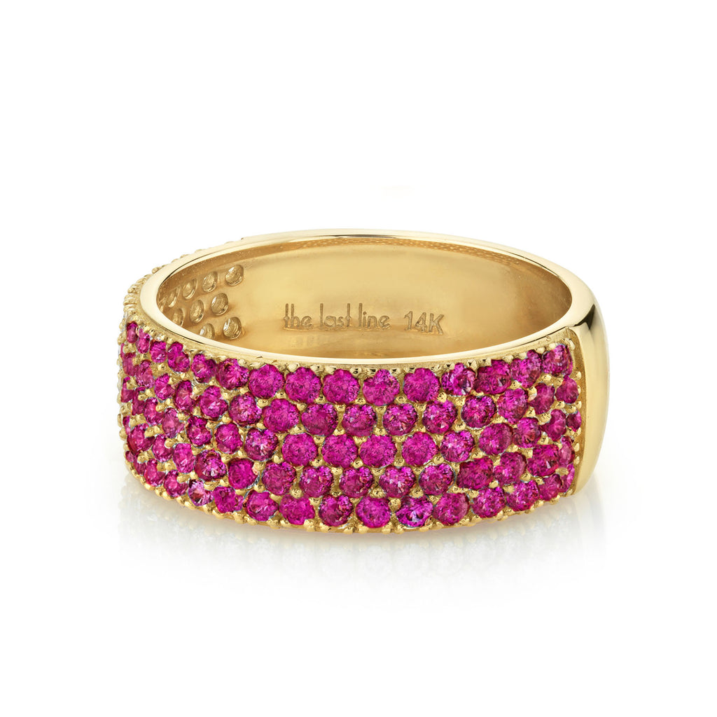 Ruby Pavé Medium Cigar Band