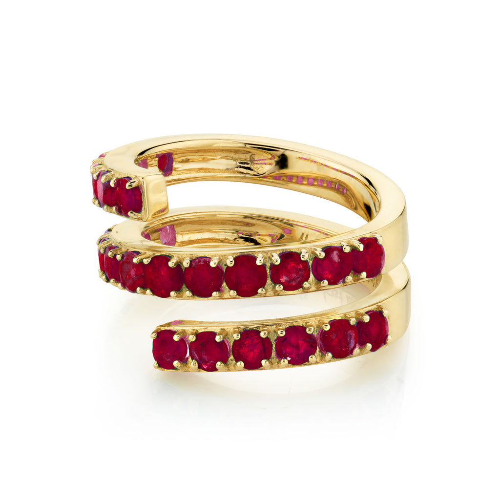 RUBY DOUBLE TWIST RING