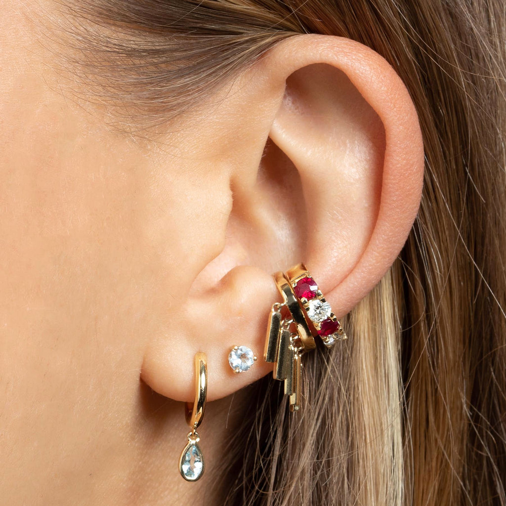 GOLD BAR SLIM EAR CUFF