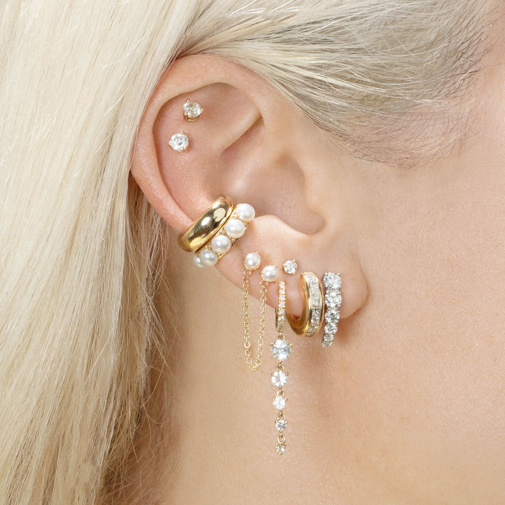 PEARL CONNECTED STUD EARRING