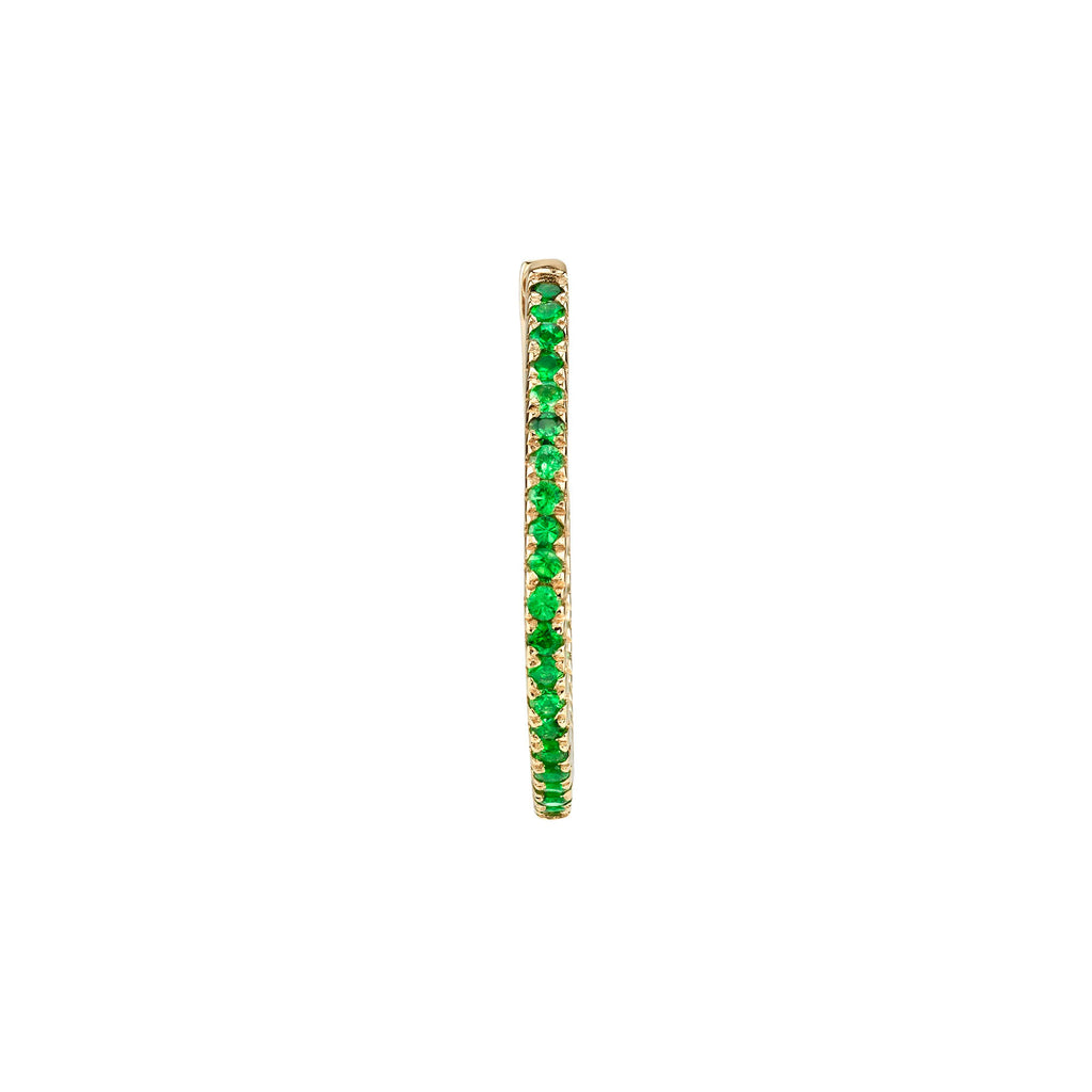 SMALL TSAVORITE INSIDE OUT HOOP EARRING