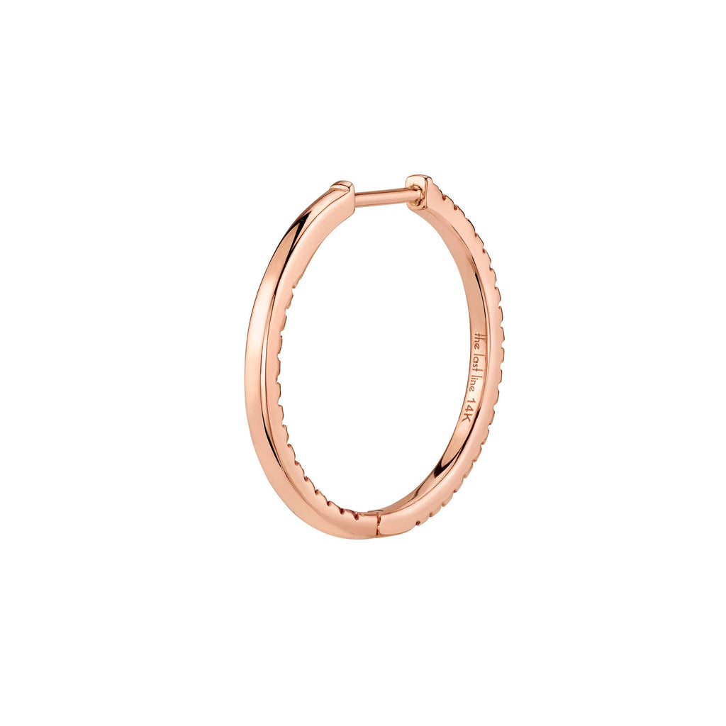 RUBY SMALL INSIDE OUT HOOP EARRING