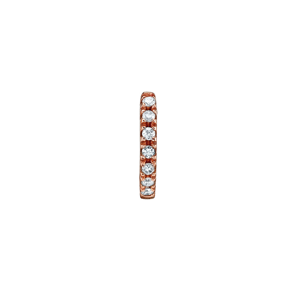 DIAMOND SMALL HUGGIE EARRING