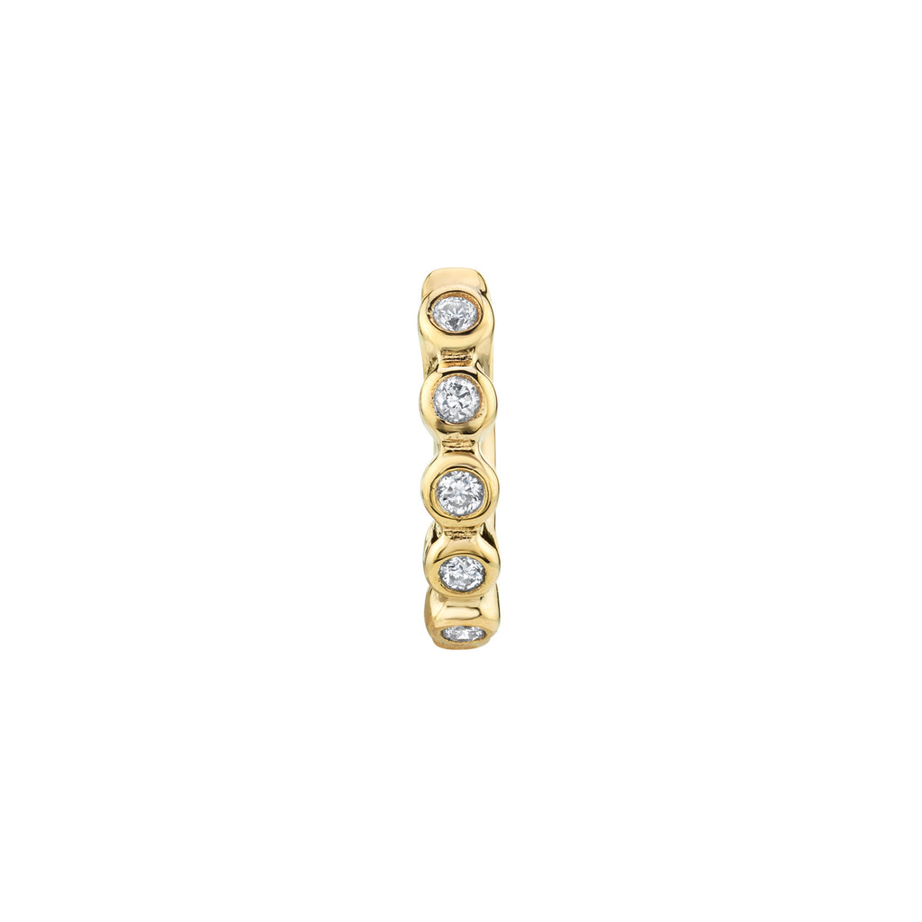 DIAMOND SMALL BEZEL HUGGIE EARRING