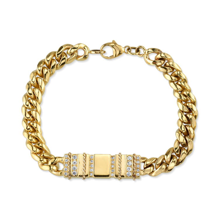 DIAMOND DECO STEP ID BRACELET