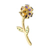 AMETHYST GOLDIE FLOWER EARRING