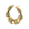TURQUOISE SPIRAL HORN EARRING SMALL