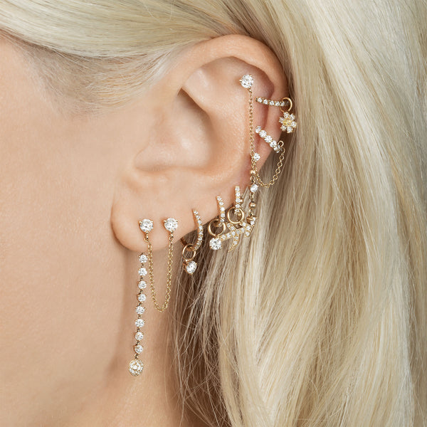 DIAMOND CONNECTED STUD EARRING