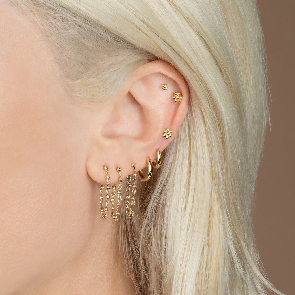 GOLD SLIM HOOP #4 EARRING