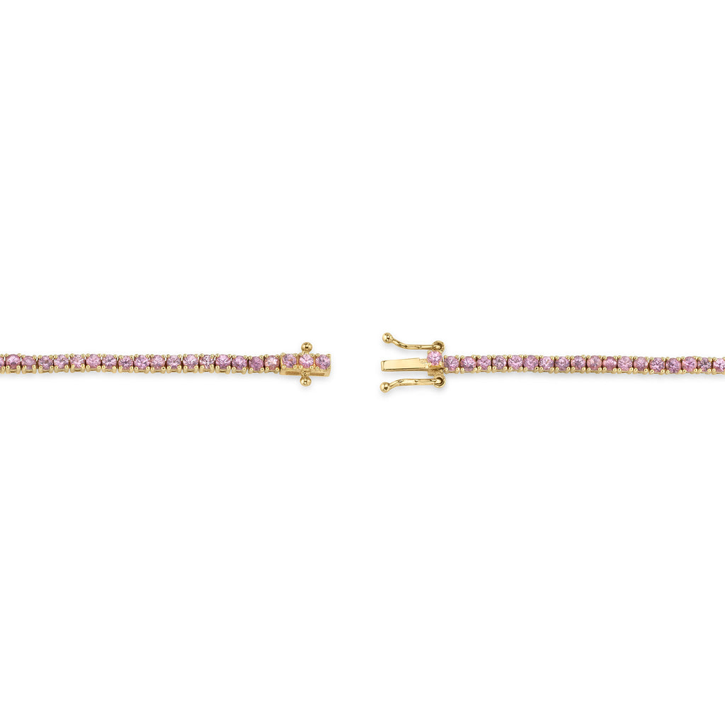 PINK TOURMALINE PERFECT TENNIS BRACELET