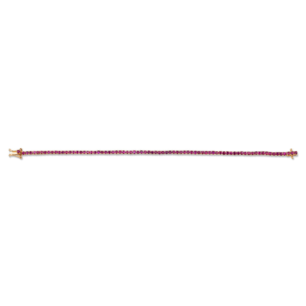 PERFECT RUBY TENNIS BRACELET