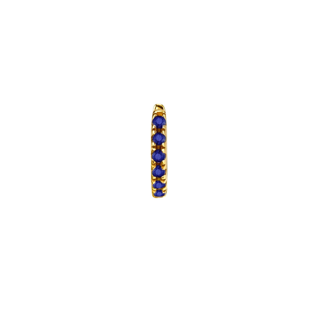 BLUE SAPPHIRE TINY HUGGIE EARRING