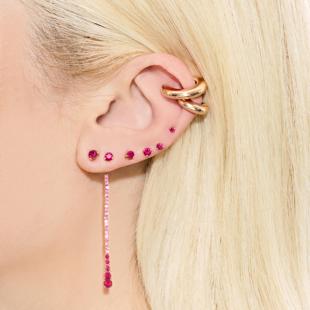 RUBY DEW DROP EARRING