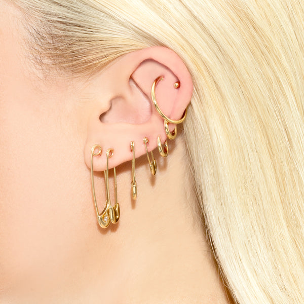 LARGE SAFETY PIN EARRING