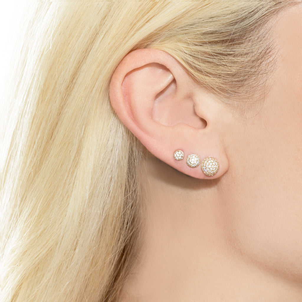 DIAMOND PAVÉ STUD EARRING #1