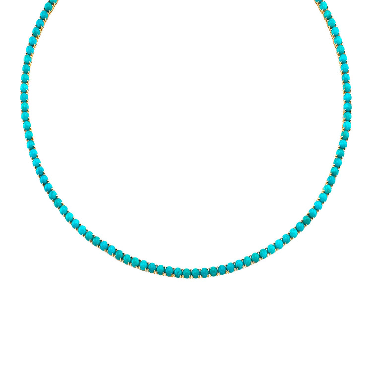 TURQUOISE PERFECT TENNIS NECKLACE