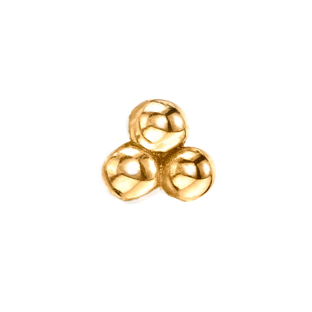 GOLD MINI CLUSTER PIERCING STUD EARRING