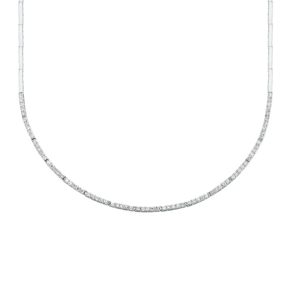DIAMOND CRESCENT ETERNITY NECKLACE