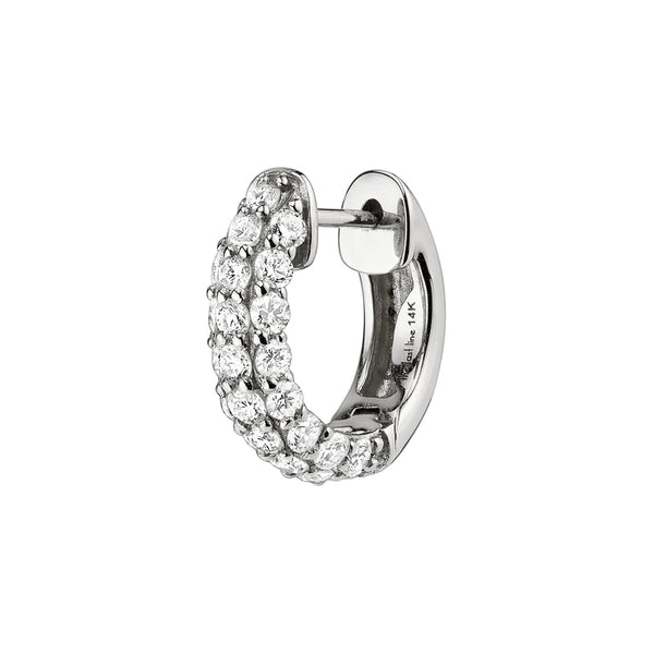 DIAMOND PAVÉ WIDE HOOP #4 EARRING