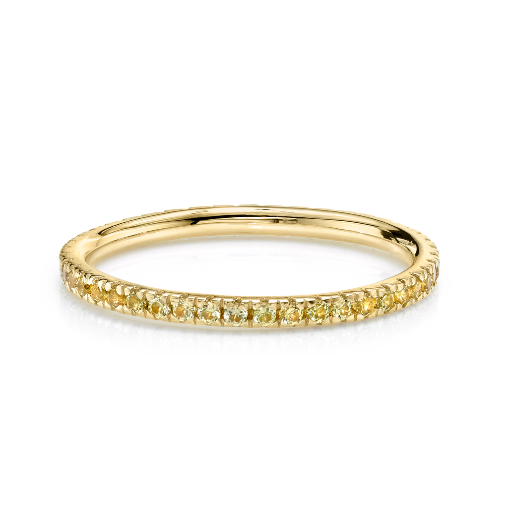 YELLOW SAPPHIRE PERFECT ETERNITY BAND