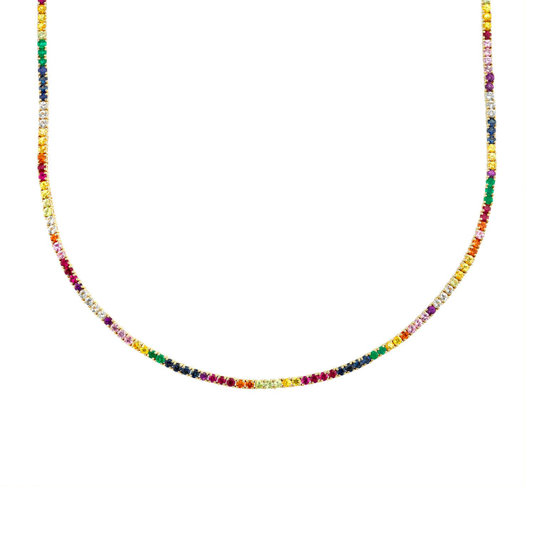 RAINBOW PERFECT COLLAR TENNIS NECKLACE