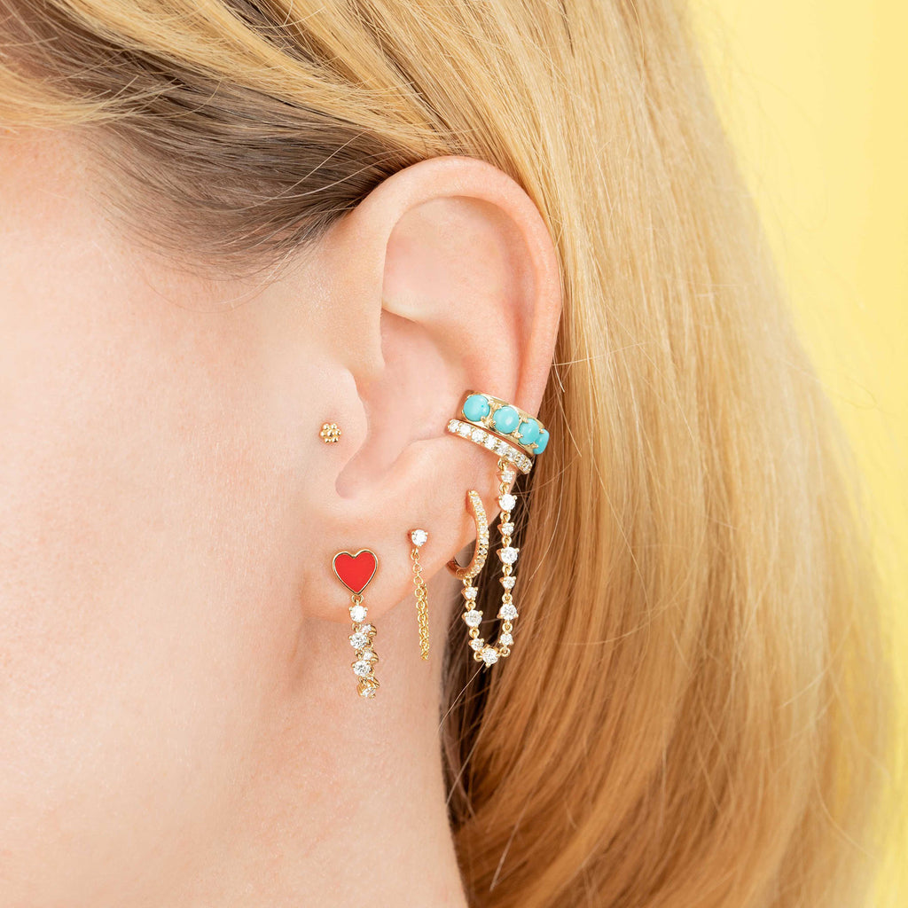 TURQUOISE EAR CUFF