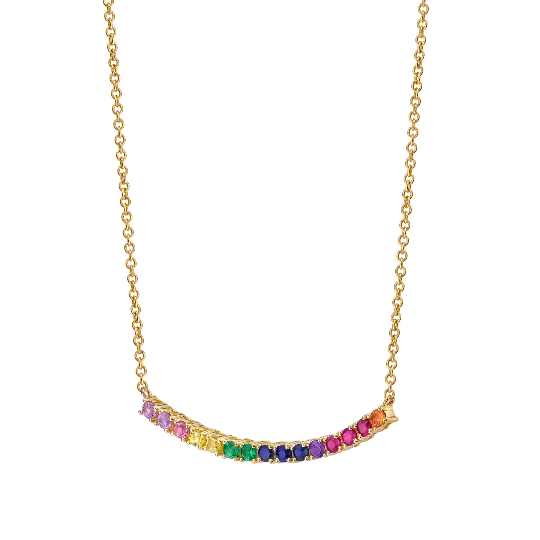 necklace years jewelry crystal products fashion rainbow light gold