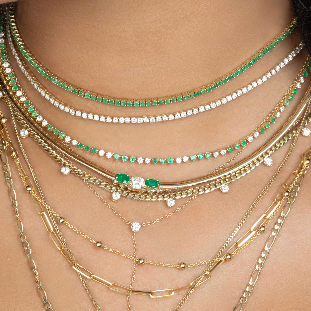 EMERALD PERFECT COLLAR TENNIS NECKLACE