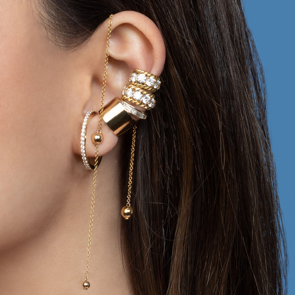 GOLD INDIA SPHERE EARRING