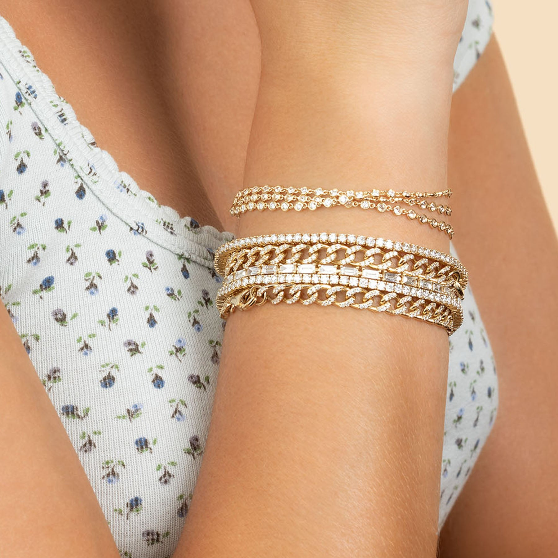 DIAMOND BAGUETTE TENNIS BRACELET