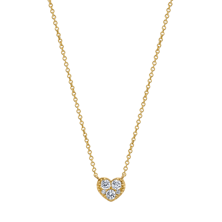THREE DIAMOND HEART NECKLACE